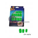 grossiste Vernis a Ongles: lot de 24 faux ongles vert fluo neon