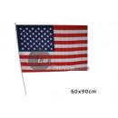 grossiste Gadgets et souvenirs: drapeau usa 60x90cm avec bâton