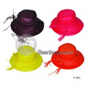 straw hat for plum woman