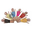 Großhandel Handschuhe: Paar Fäustlinge fluoreszierende rosa Masche