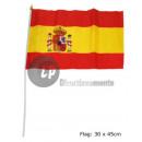 grossiste Gadgets et souvenirs: drapeau espagne  30x45cm avec baguette