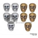 grossiste Fournitures de bureau equipement magasin: boite lumineuse avec 10 crânes 7cm