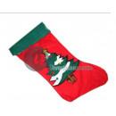 Christmas sock with fir pattern 45cm