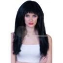 ingrosso Giocattoli: parrucca folti capelli neri lunghi