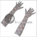 Großhandel Handschuhe: Paar lange weiße Spitzenhandschuhe