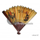 wholesale Costume Fashion: Chinese wooden fan with 33cm ground