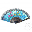 wholesale Costume Fashion: fan with flowers and black lace
