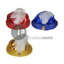 grossiste Bijoux & Montres: chapeau turban  avec plume et perle mix
