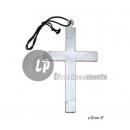 ingrosso Gioielli & Orologi: argento plastica  collana croce 23 centimetri