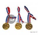 set of 3 medals Winner 4cm