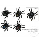 set di 4 a 6 centimetri ragni aspiranti