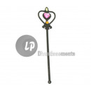 heart fairy wand and stones 32cm BLACK