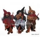 groothandel Reinigingsproducten: Witch pop met bezem 20cm MIX