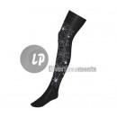 pair of socks panty with spiderweb BLACK