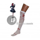 pair of socks panty WHITE bloodstained
