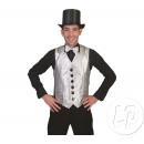 Großhandel Pullover & Sweatshirts: Silberweste mit Pailletten Herrengröße L / XL