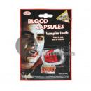 dentiere kit di vampiri e false capsule di sangue