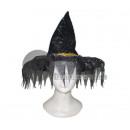 Großhandel Kopfbedeckung: grauen Hut mit spitzen Hexe Fransen