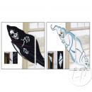 ghost decoration crossing 50cm MIX