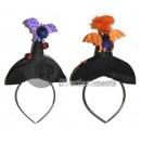 Hexenhut Stirnband mit Fledermaus
