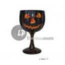 Glass Pumpkin BLACK 18cm up