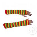 Großhandel Handschuhe: Clown Paar Handschuhe LONG Grün Gelb Rot