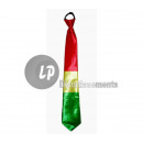 clown tie 45cm RED YELLOW GREEN