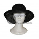 woman's hat black round