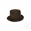 top hat shaped brown leather style