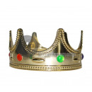 king crown with gold inlays