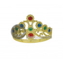 Queen golden crown and gold colored stones