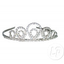 grossiste Bijoux & Montres: diadème avec faux diamants argent