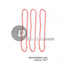 ingrosso Gioielli & Orologi: set di 3 collane  di perline di plastica rosa neon