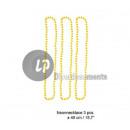 Großhandel Zubehör & Ersatzteile: 3er-Set Halsketten  in fluoreszierende neon Kunstst