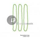 ingrosso Gioielli & Orologi: set di 3 collane  di perline di plastica verde neon
