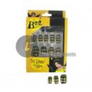 wholesale Nail Varnish: lot 24 fake nails yellow and black bee