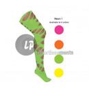 Strumpfhose für Frauen in Neon Neon-Grün Loch