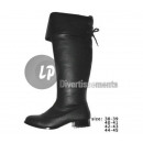 wholesale Shoe Accessories: pair of lace boots size 38-39 BLACK