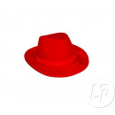 Borsalino felt hat with headband RED
