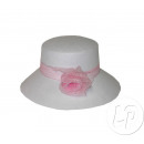 woman's hat with bow WHITE ROSE