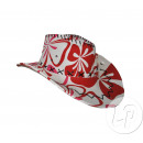 cowboy hat flower power RED & ROSE