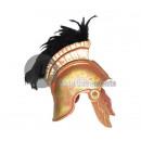 vergoldeten römischen Helm mit schwarzen Staubtuch