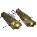 paio di parastinchi cavaliere d'oro
