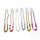 grossiste Bijoux & Montres: collier avec  grosses perles en plastique mix