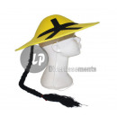 wholesale Costume Fashion: yellow chinese hat with braid