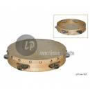 wholesale Music Instruments: Tambourine wood and skin 21cm