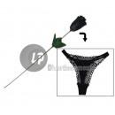 Großhandel Dessous & Unterwäsche: rosa thong damenslip mit schwarzen 50cm