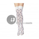 white pair of socks for women with Black Dots