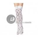 Großhandel Strümpfe & Socken: white Paar Socken für Frauen mit schwarzen Punkten