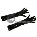 Großhandel Handschuhe: Paar lange schwarze Lederhandschuhe Stil